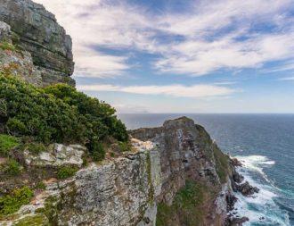 Blick von der Aussichtsplattform auf Cape Point bei einer Südafrika Safari Reise