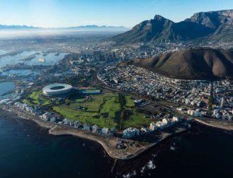 Bild von Kapstadt aus einem Helikopter während einer Südafrika Safari Reise