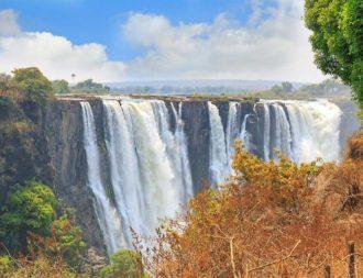 Viktoriafälle während einer Simbabwe Safari Reise