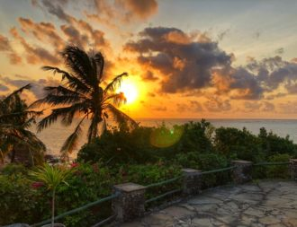 Sonnenuntergang in Mombasa